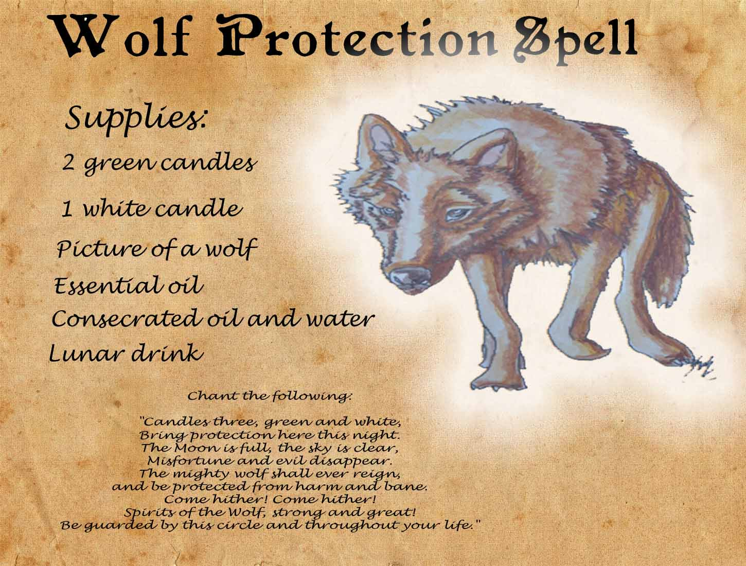 wolf spirits wolves spell -#main