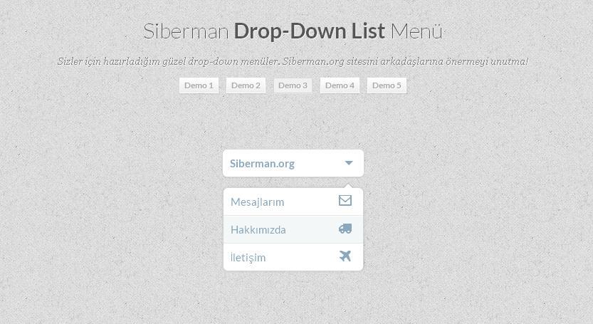 Css3 Drop Down List Menü 3
