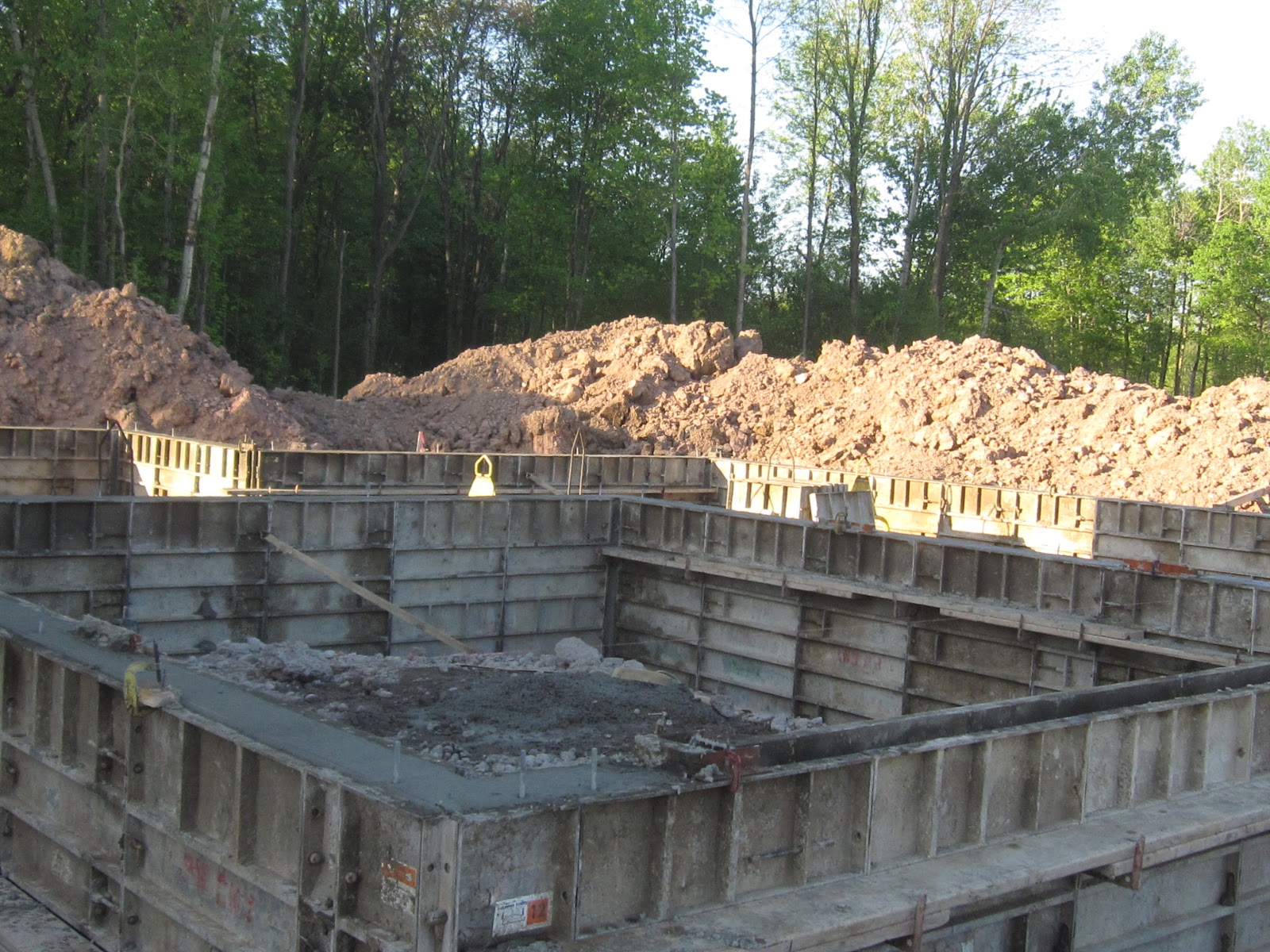 A ryan homes venice for our duo basement wall are poured for Poured basement walls