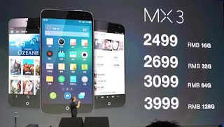 Meizu MX-3 Unveiled with 128GB Storage and Exynos 5-Octa Processor