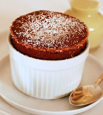 ... Sweet Dreams: Warm Chocolate Soufflé with Pistachio Crème Anglaise