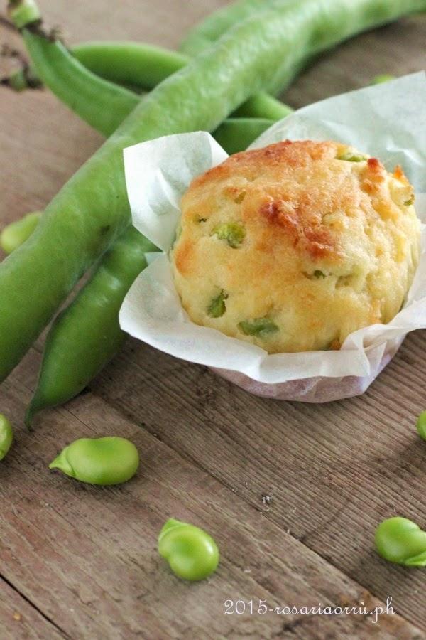 muffins fave lardo e pecorino: è primavera!!