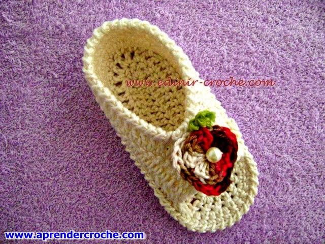 sapatinhos em crochê bebê blog aprender croche com edinir-croche dvd