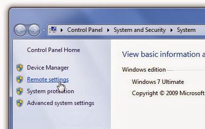 خاصية Remote Desktop