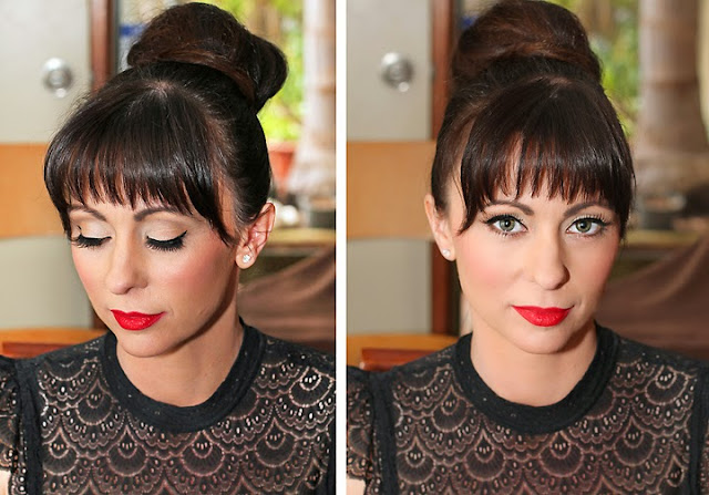 Audrey Hepburn Lookalike, Red lipstick, Retro Makeup Look