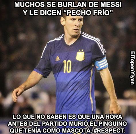 Memé de Humor : Messi pecho frío