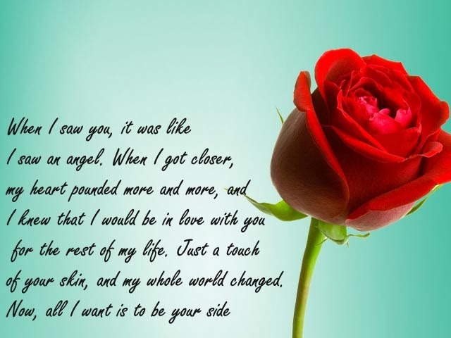 Love Quotes With Beautiful Red Flower | New Shayari SMS Hindi