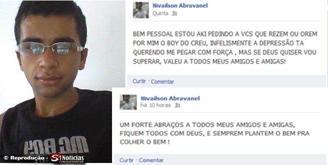Jovem de 19 anos comete suicídio após deixar recado no Facebook em Currais Novos - RN