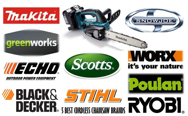 5 BEST CORDLESS CHAINSAW BRANDS