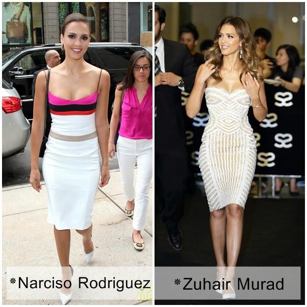 Jessica Alba Narciso Rodriguez Zuhair Murad