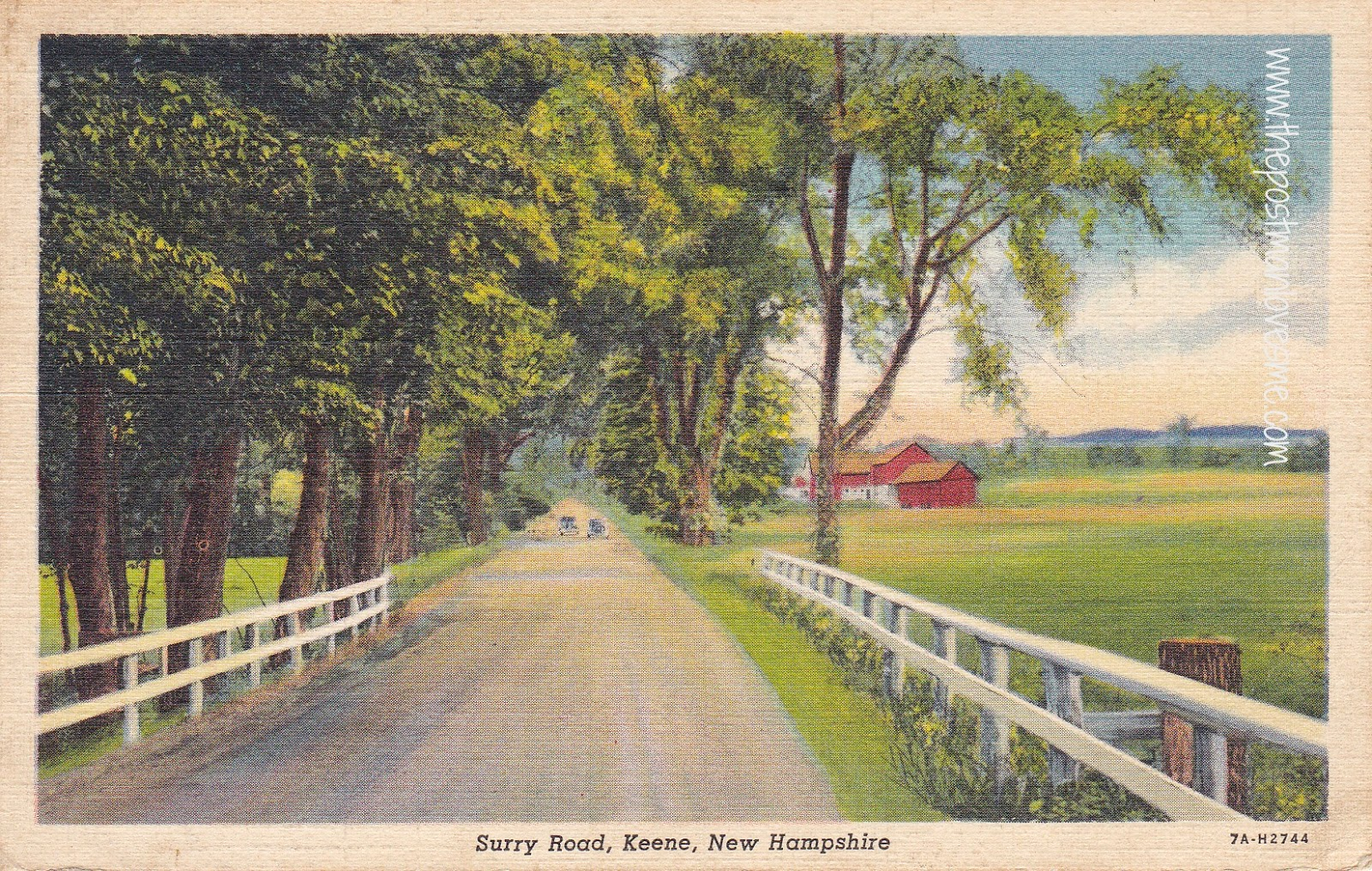 Surry Road, Keene New Hampshire Vintage Postcard