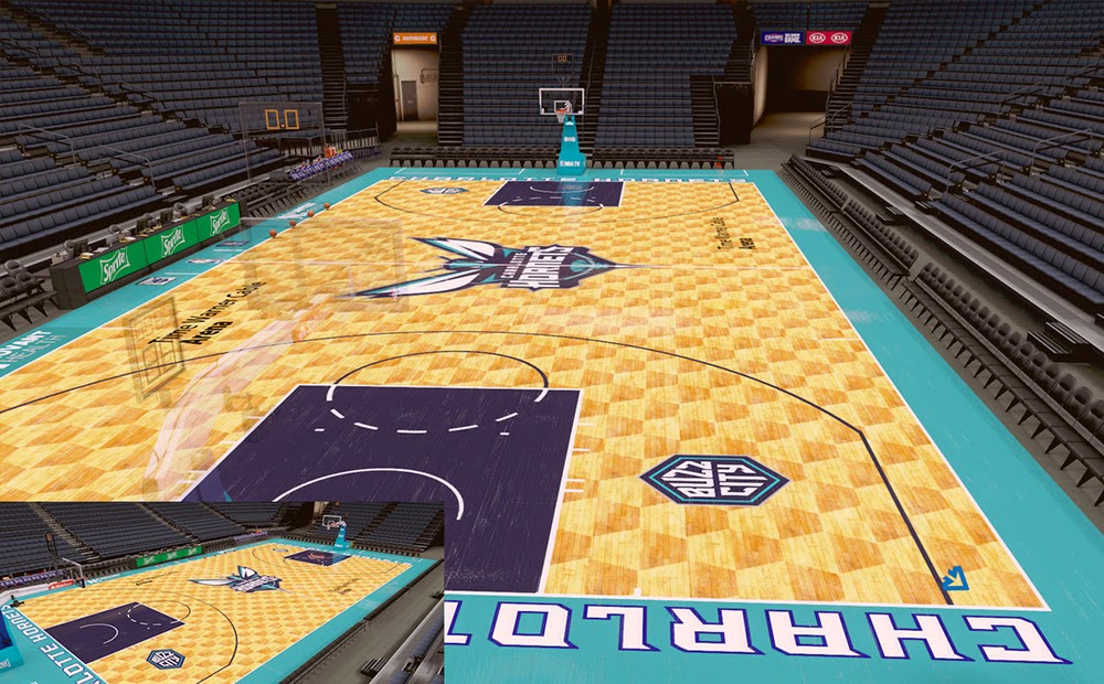 Charlotte Hornets NBA 2K Court Update