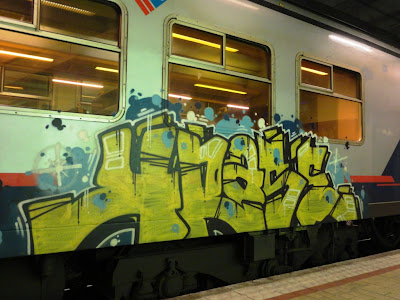 graffiti on trains