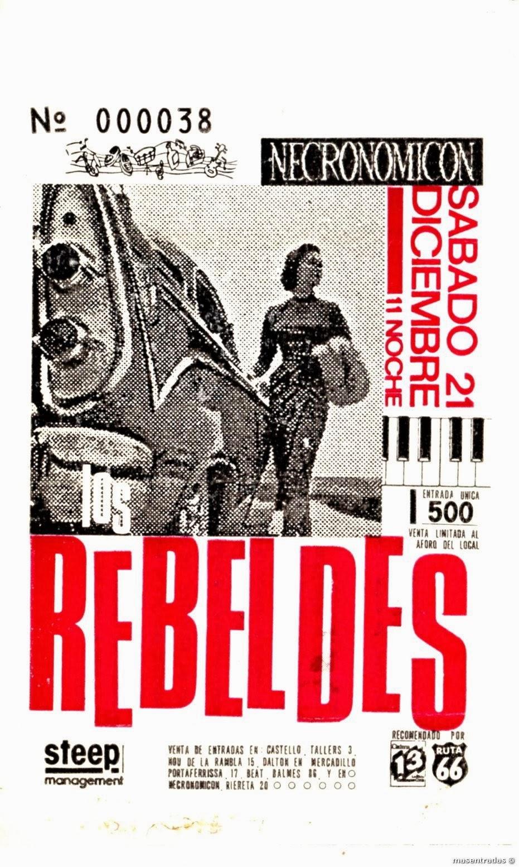 entrada de concierto de los rebeldes