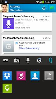 berbagi file, foto, voice note, terintergrasi dengan Dropbox
