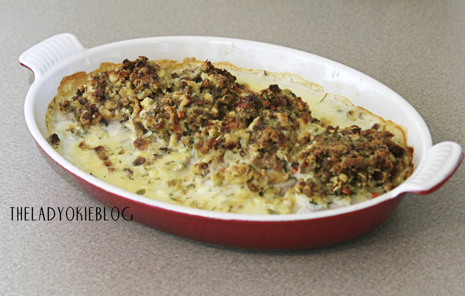 The Lady Okie: Pork Chops & Stuffing (aka: A VERY Easy Weeknight Meal)