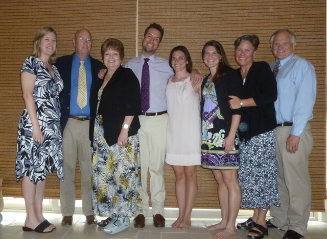 Paul and Virginia Friesen with family at Easter