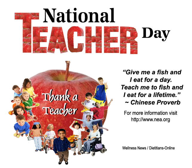 Wellness News At Weighing Success May 7 2013 National Teacher Day