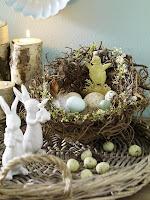 Декорация за дома за Великден - гнездо с яйца