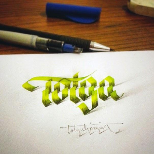 Desain Kaligrafi 3D