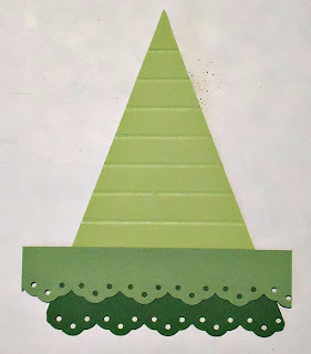 Layering Technique for Paper Christmas Tree