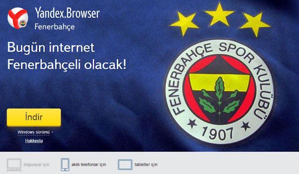 Yandex Browser Fenerbahçe Temalı İnternet Tarayıcısı