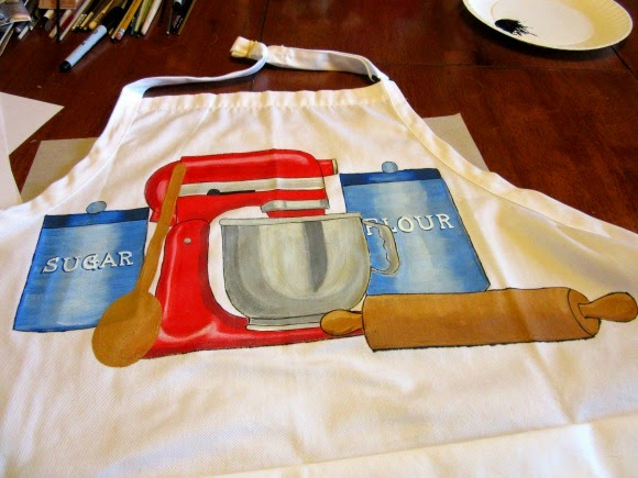 Hand Painted Bakers Apron - Kudos Kitchen by Renee