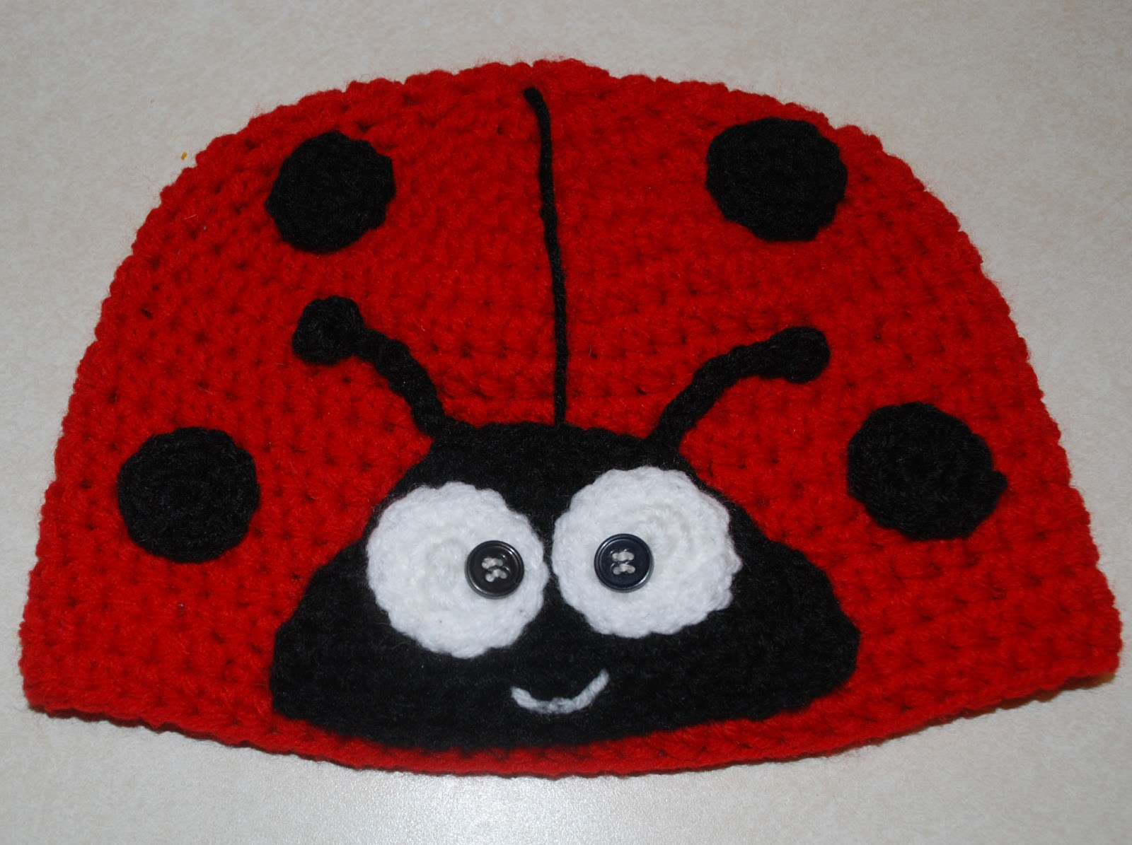 Free Crochet Ladybug Blanket Pattern : Amys Crochet Creative Creations: Crochet Ladybug Hat (All ...