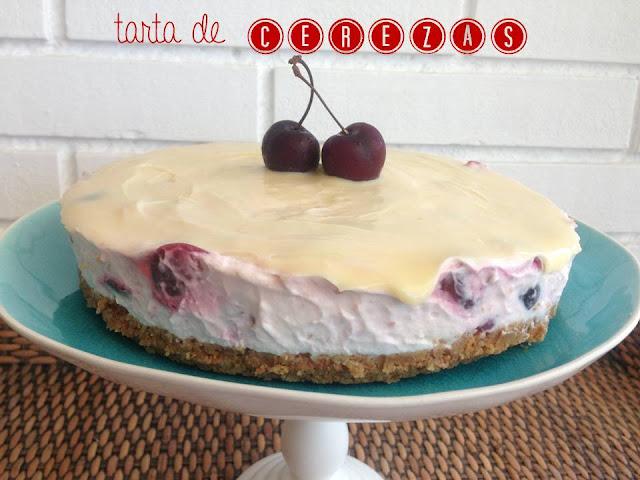 tarta mousse de cerezas