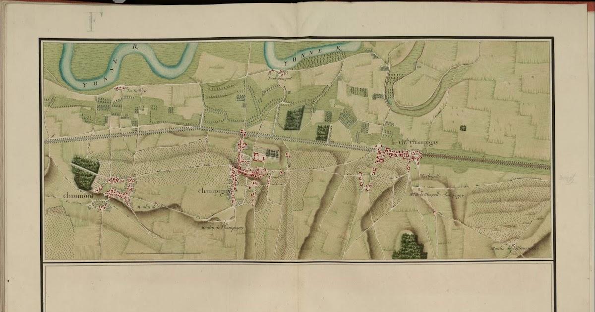 champigny sur yonne et senonais carte de champigny sur yonne 1759. Black Bedroom Furniture Sets. Home Design Ideas