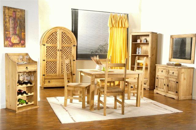 pino, librerías, mesas de salón, trinchantes, vitrinas, muebles