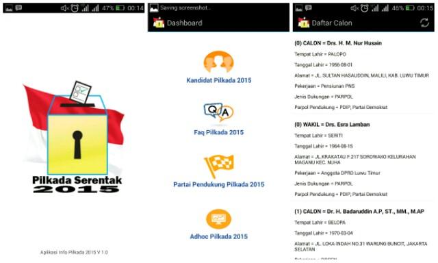 Aplikasi Pilkada Serentak 2015 di Android