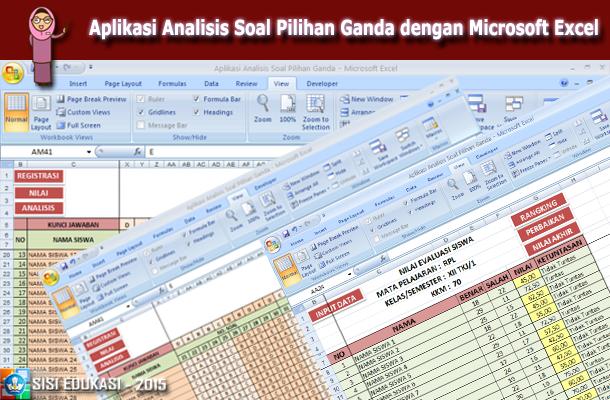 Aplikasi Analisis Soal Pilihan Ganda dengan Microsoft Excel
