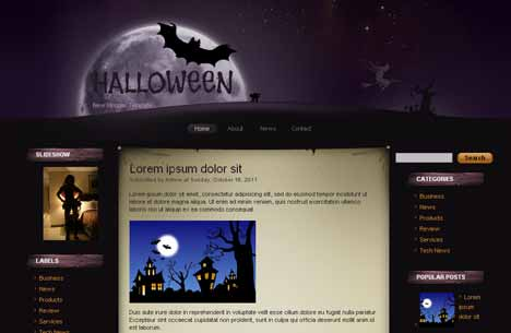 New Halloween Blogger Template
