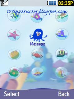 Samsung GT-S5530 Sea Theme Download Menu