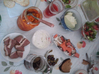 Russian-Moldovan dinner - first course
