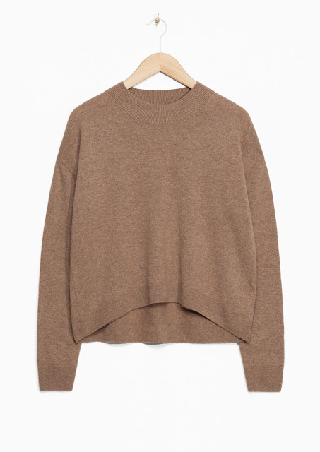 taupe cashmere jumper, stories beige jumper, stories cashmere jumper,
