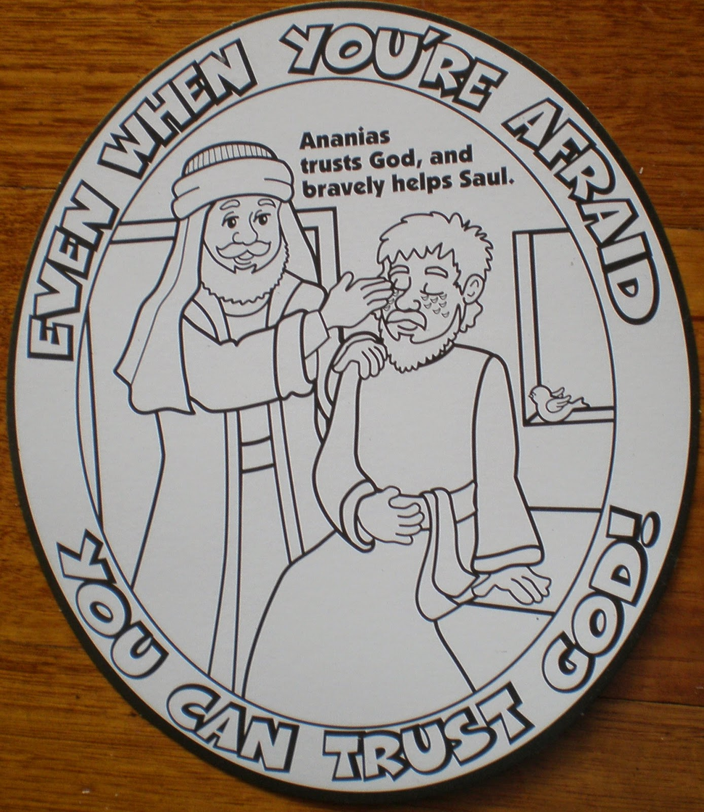 Petersham Bible Book & Tract Depot: Colour Your Own Ananias Helps ...