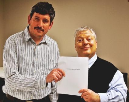 Joe Punday and Bob Daraio with New Guild/WPIX Contract