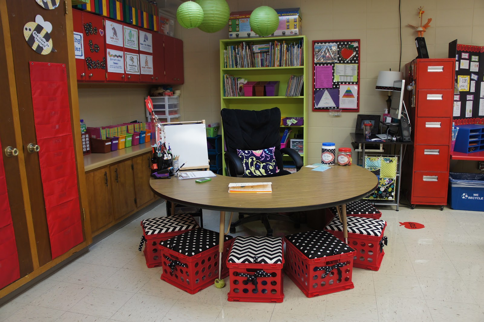 Kindergarten khronicles classroom preparations year 2 - Classroom desk organization ideas ...