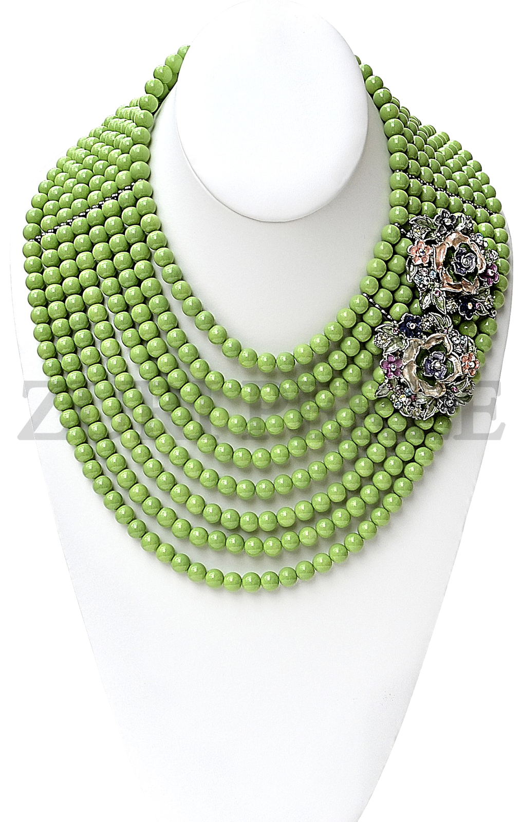 GREEN BEAD JEWELRY NECKLACE