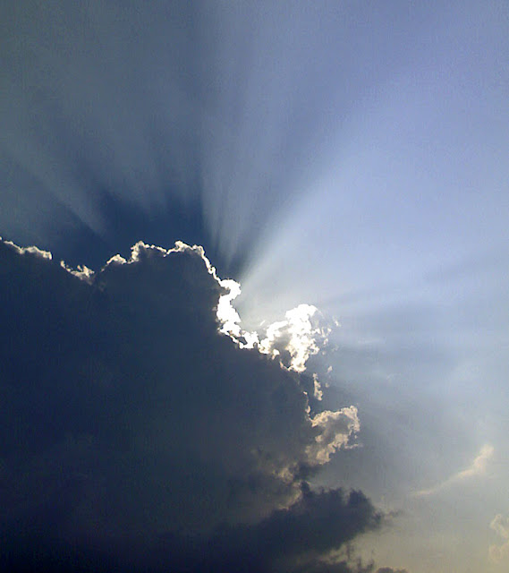 stock pictures  clouds with a silver lining