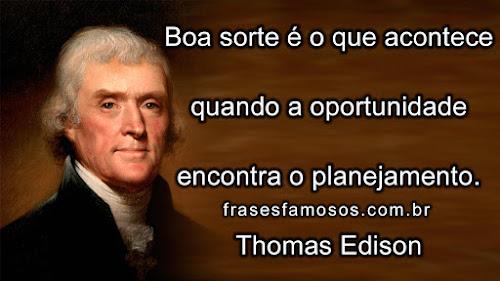 Frase de Thomas Edison