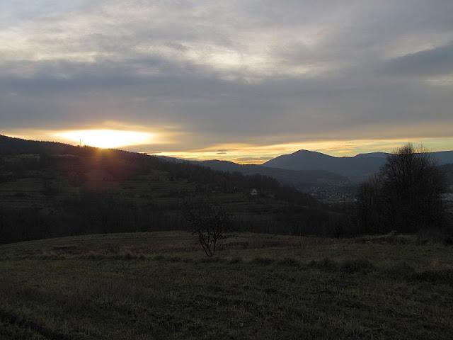 Wschód słońca z Krzywickiej Góry