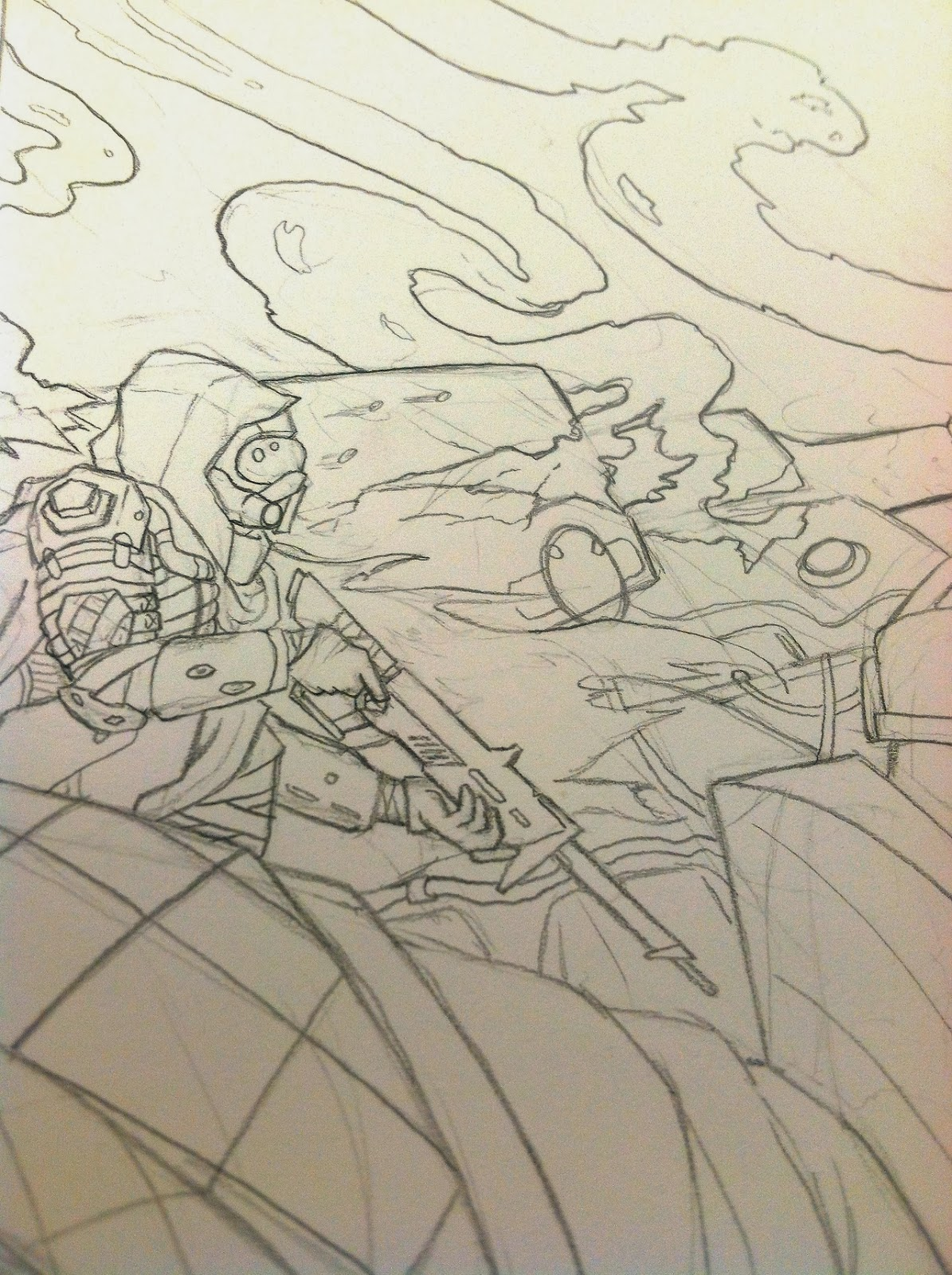 destiny fan art design sketch