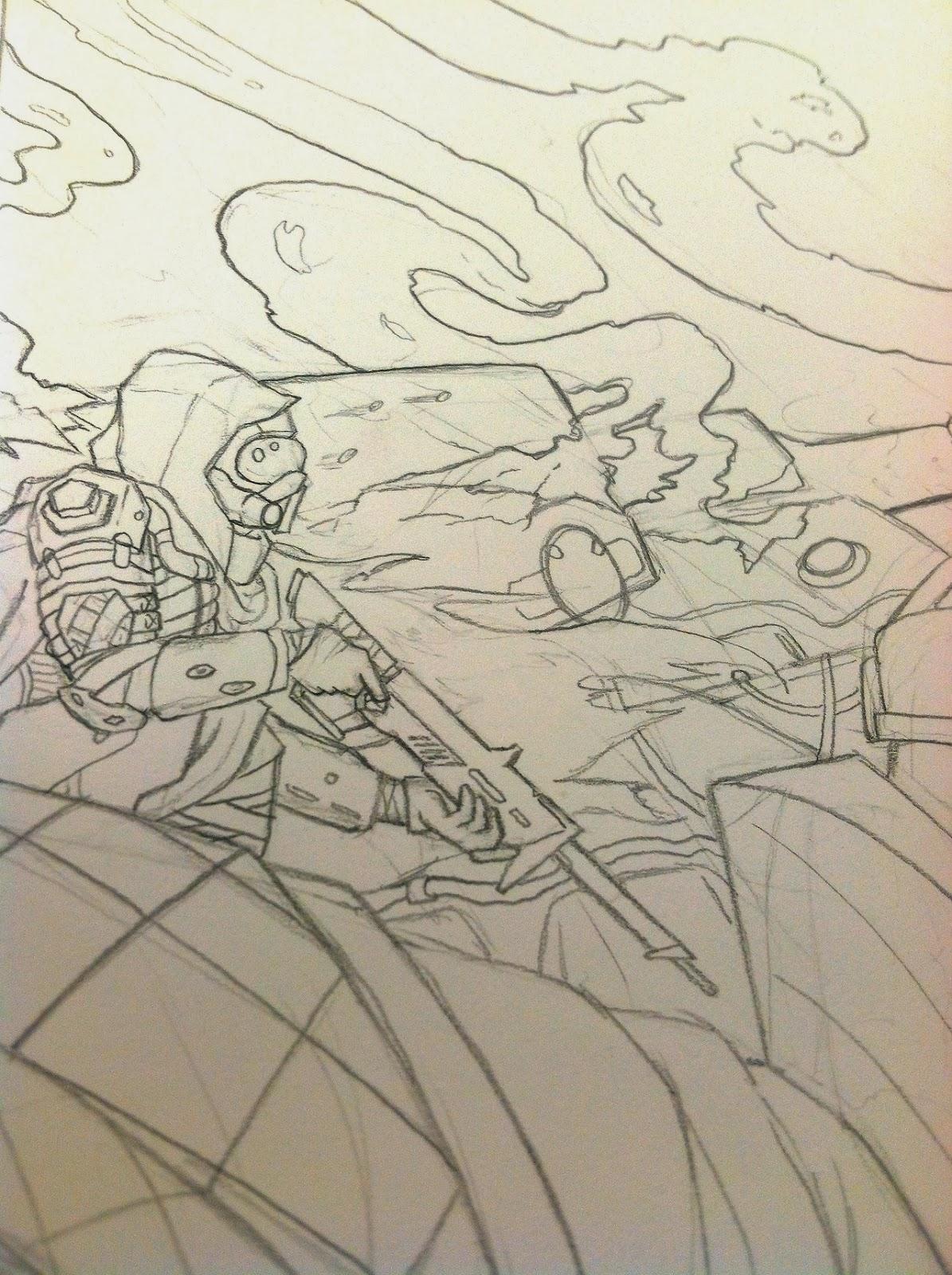 destiny fan art design sketch