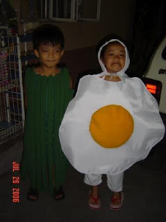 egg and ampalaya costume
