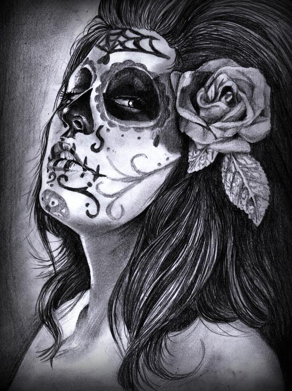 day of the dead tattoos. tattoo makeup day of dead