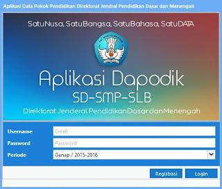 Aplikasi Dapodik Versi 410 Semester 2 Tahun Pelajaran 20152016