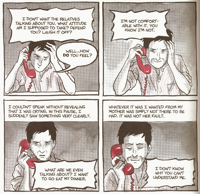 the importance of the characters appearance in are you my mother a graphic novel by alison bechdel